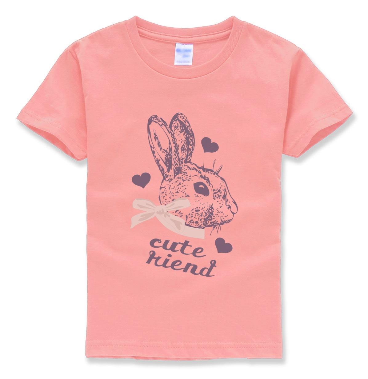 2018 Летний Новый модный бренд homme Футболки для мальчиков уличная милый кролик битник harajuku футболки с короткими рукавами детская одежда pp