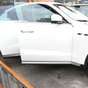 Image 5 - רכב סטיילינג ABS Chrome רכב גוף צד דלת קישוט רצועות לקצץ עבור מזראטי Levante 2016 מדבקות אביזרים חיצוניים 6pcs