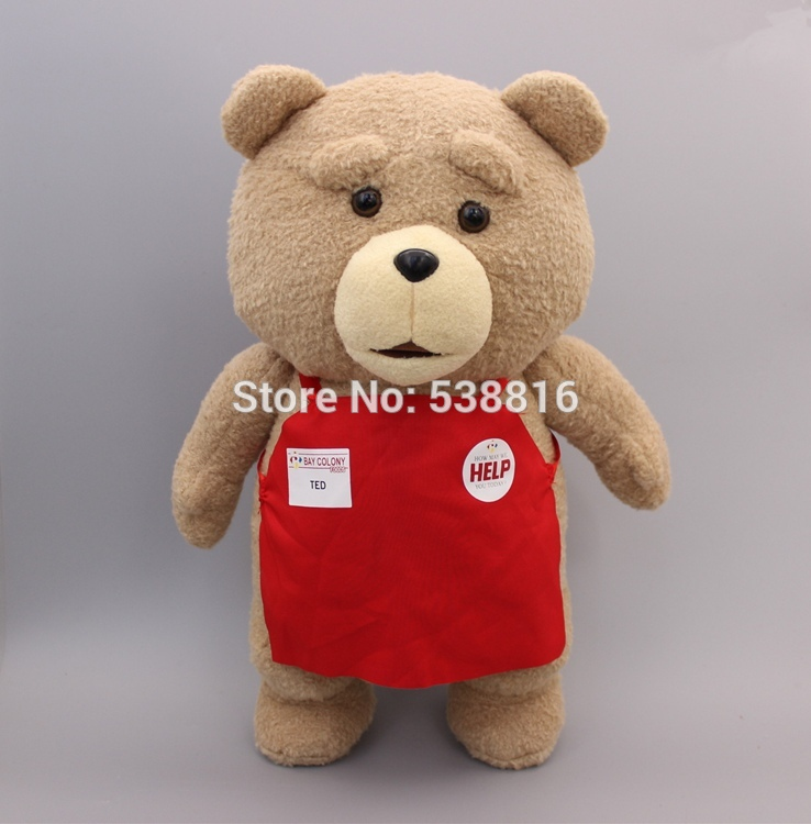 Cartoon Movie Teddy Bear TED Plush Toys Soft Stuffed Animal Dolls Classic Toy 45CM 18'' Kids Gift 20cm plush cartoon red blue owl toy pendant stuffed dolls baby kids children kawaii gift toys home shop decoration triver