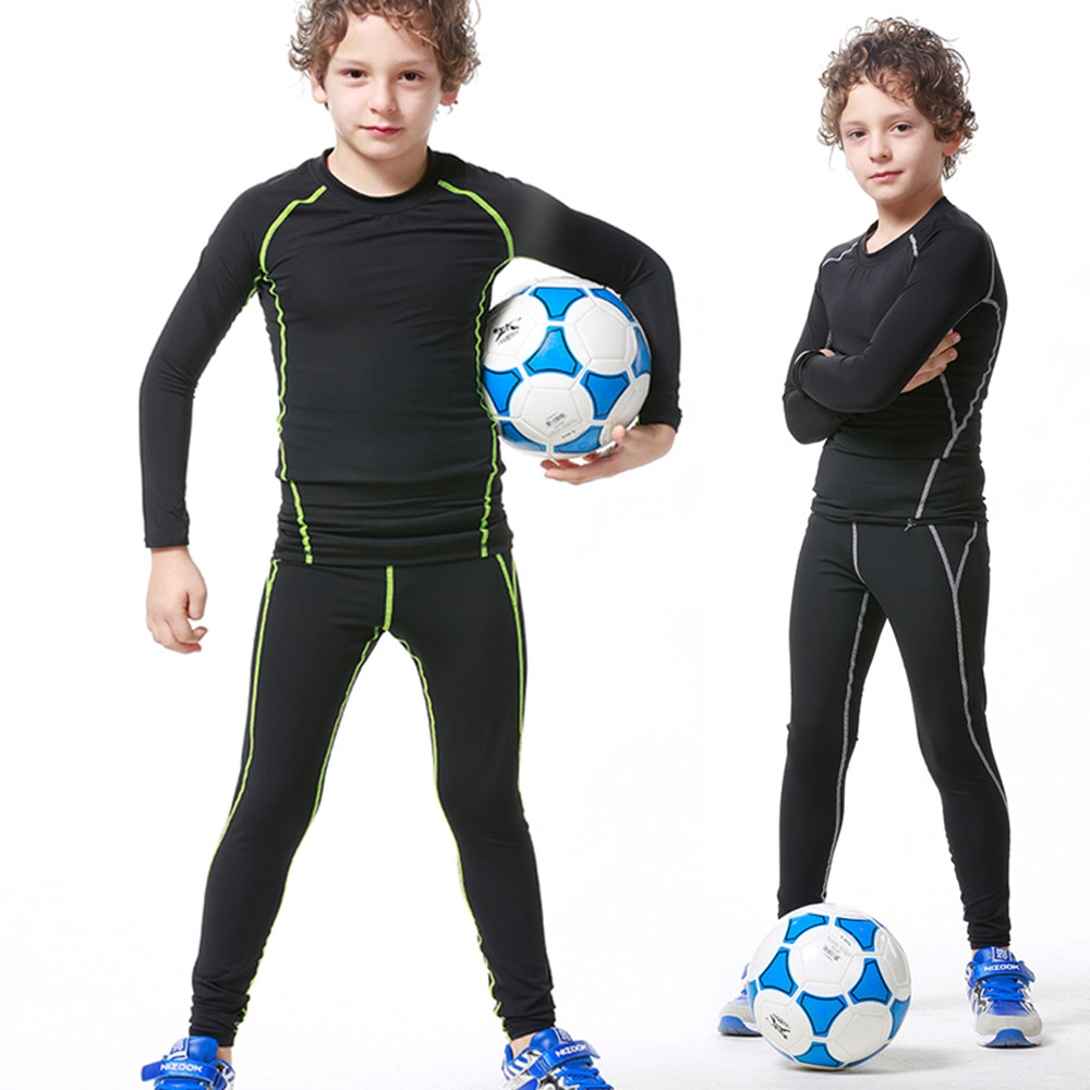 Children S Youth Sports: 2017 New Kids Youth Long Compression Runing Pants Jerseys