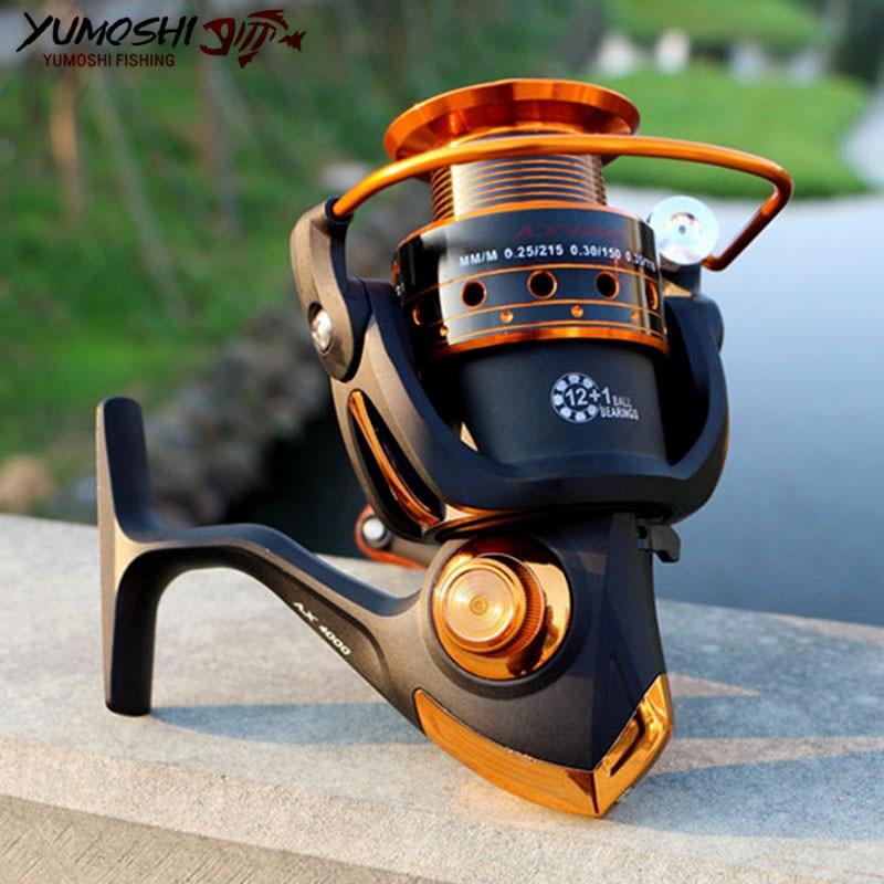 BX/AX1000-7000 13BB 5.2: 1/5.5: 1/4.1: 1 بكرات صيد دوارة معدنية حدَّافة للملح/الطازج
