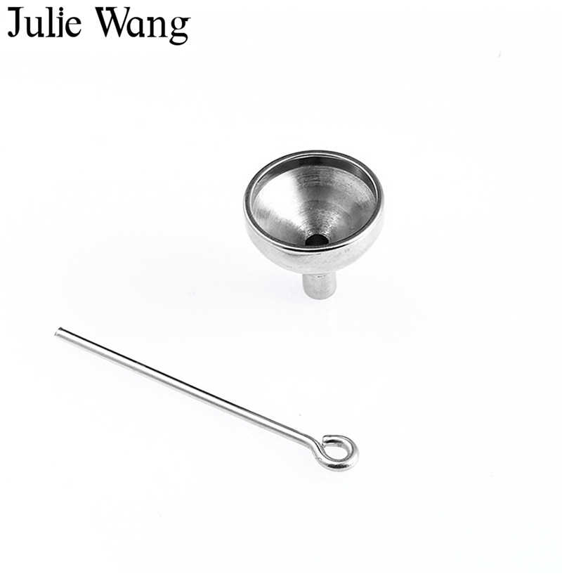 Julie Wang High Quality Stainless Steel Funnel Filler Kit Tool For Cremation Necklace Memorial Keepsake Ash Urn Pendant Jewelry