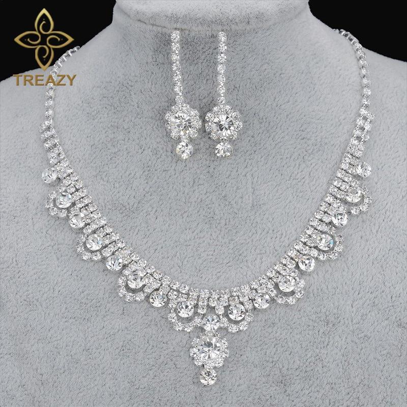 Celebrity Wedding Sets: TREAZY New Celebrity Inspired Diamante Crystal Tennis