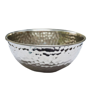 Stainless Steel Oversize Bowl Salad Rice Ware Food Container Irregularity Big Soup Bowl Dinnerware Tableware ZA6844