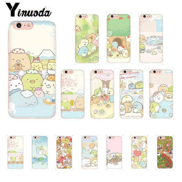 promo code d8efe 440a2 US $0.53 46% OFF|Yinuoda sumikko gurashi Rilakkuma Cover Soft Shell Phone  Case for iPhone X XS MAX 6 6s 7 7plus 8 8Plus 5 5S SE XR 10-in Half-wrapped  ...