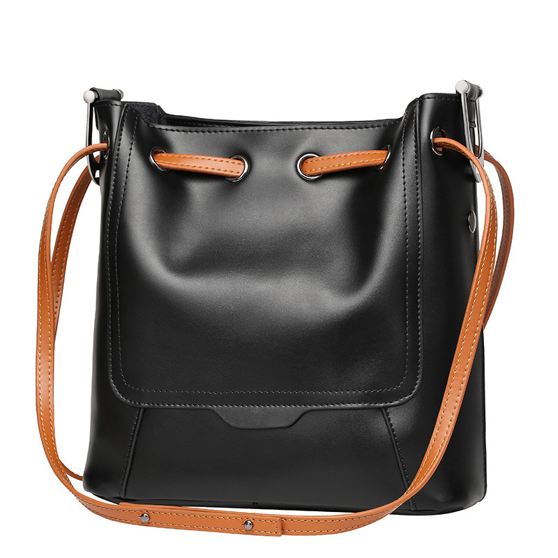 Luxury handbags women bags designer real genuine leather bucket bag shoulder bag for women messenger bags Retro dollar price 4 недорго, оригинальная цена