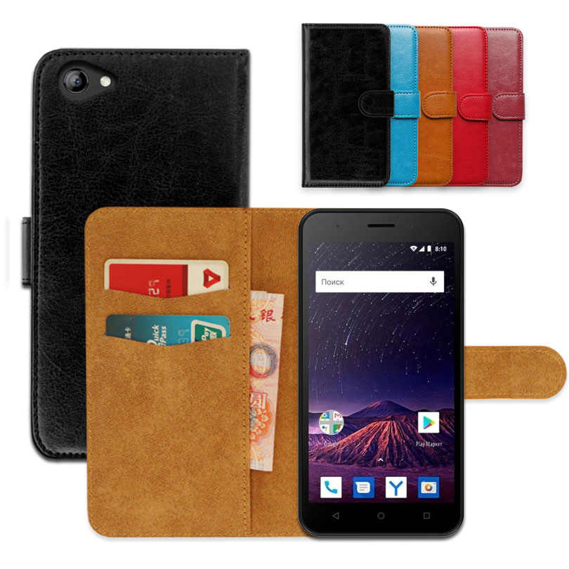 Flip wallet case for Vertex Impress Luck NFC (4G) Luxury PU Leather Exclusive Slip-resistant Ultra-thin Phone Cover,book case