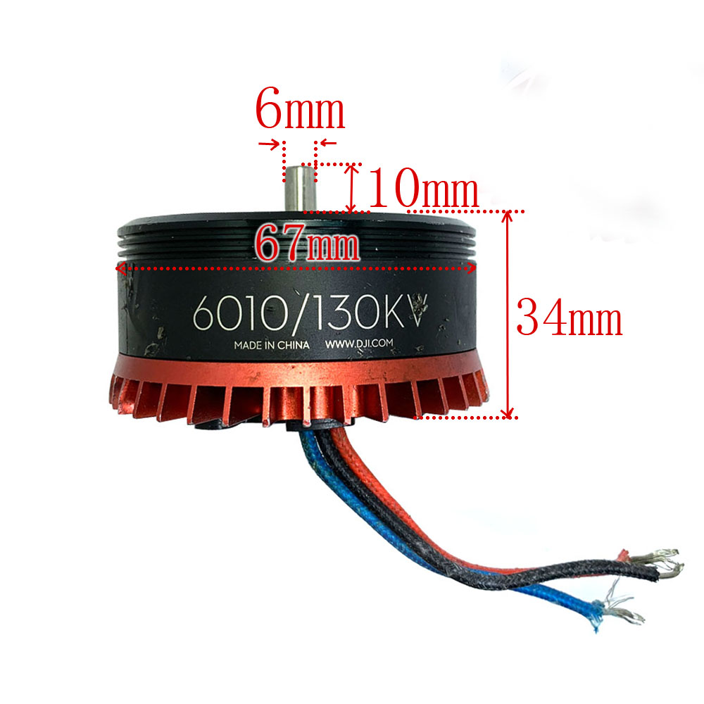 6010 DJI Outer Rotor Brushless Motor UAV Motor 130kv plant motor model aircraft Large torque unmanned multi axis in Tattoo accesories from Beauty Health
