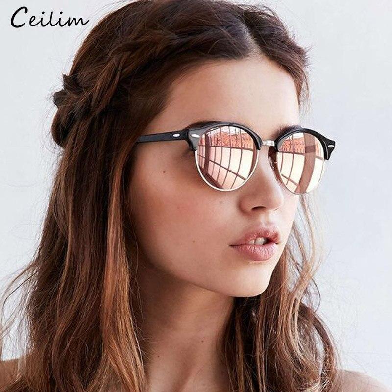 Gafas de sol polarizadas 2019 mujeres genial ronda de gafas de sol de conducción de moda, gafas de dama de la marca de lujo gafas negro rosa, gafas
