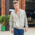 Uwback 2017 New Spring Zipper Cardigan Thin Cotton Hoodies Men Loose Solid Pocket Hooded Coat Casual Coat Good Quality CAA495