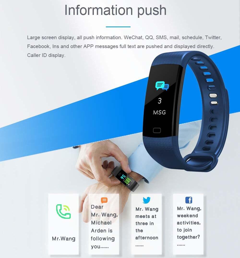 K20 Цвет Экран спортивный браслет на запястье браслет сердечного ритма крови Давление монитор Фитнес трекер для Cubot X15 X12 X17 X9 X6 - 6