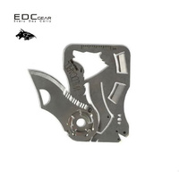 Creative Wolf Head Fly Off Multi Function Combination Tool 440 Stainless Steel Wallet Card Knife EDC