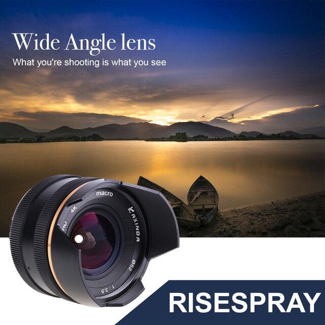 14mm f/3.5 APS C ידני פוקוס ראש קבוע מצלמה עדשה עבור Sony E הר NEX3 3N 5 5T 5R מצלמה KAXINDA