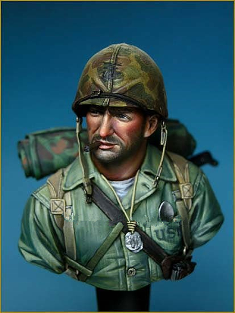 1/10 Resin Bust WWII Armored Division war movie Unpainted and not assembled resin kits Z428 wwii hms surprise captain jack resin soldier bust model resin bust master and commander
