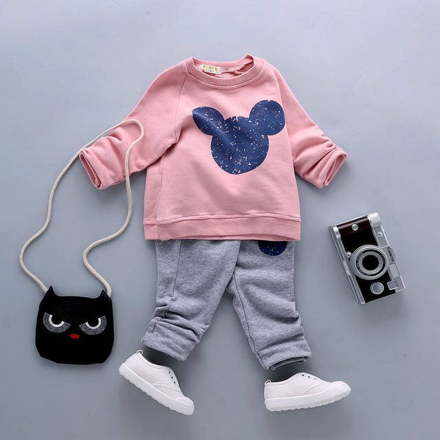 8898b0301 Online Shop Infant Minnie Cotton Tracksuits Baby Boys Girls Mickey ...