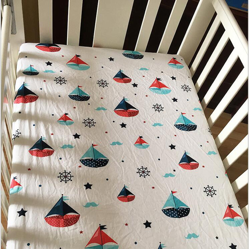 Baby Crib Fitted Sheet 100 Cotton Infant Bed Mattress