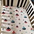 Berço Folha de Algodão 100% Equipado Cama Infantil Cama Capa de Colchão Conjunto de Cama Dos Desenhos Animados Do Bebê Da Criança Meninas Meninos Tamanho 130*70 cm
