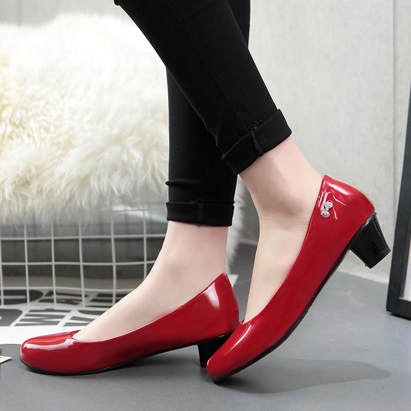 NEMAONE Comfy Office High Heels Woman Shoes Ladies Pumps Plus Size ... ac000e7db1bb