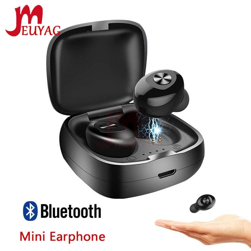 MEUYAG Wireless Bluetooth Earphone TWS Bluetooth 5.0 Headset Stereo HIFI Sound Sport Earbus Earphones With Mic For Phone XR