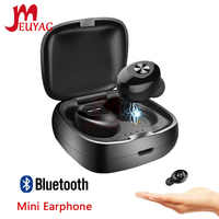 MEUYAG Wireless Bluetooth Earphone TWS Bluetooth 5.0 Headset Stereo HIFI Sound Sport Earbus Earphones with Mic for Phone XR