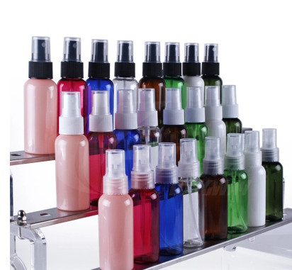 2017 New 200pcs 50ml Plastic PET Mini Lotion Pump Small Empty Perfume Bottles Spray Bottle Sample