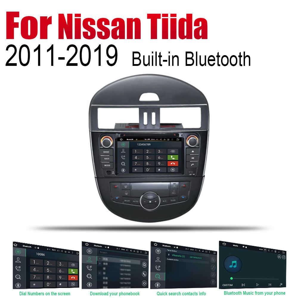 アンドロイド Gps ナビゲーション日産ティーダ 2011 〜 2019 の bluetooth wifi 2din カーラジオステレオマルチメディアプレーヤーオーディオ