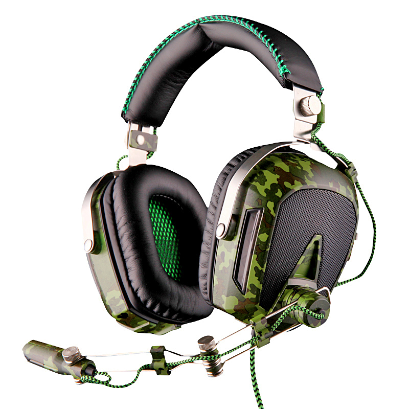 A90 Pilot 7.1 Surround Sound Effect Noise Canceling USB Gaming Headphone Game Headset With Mic & External USB Sound Card image