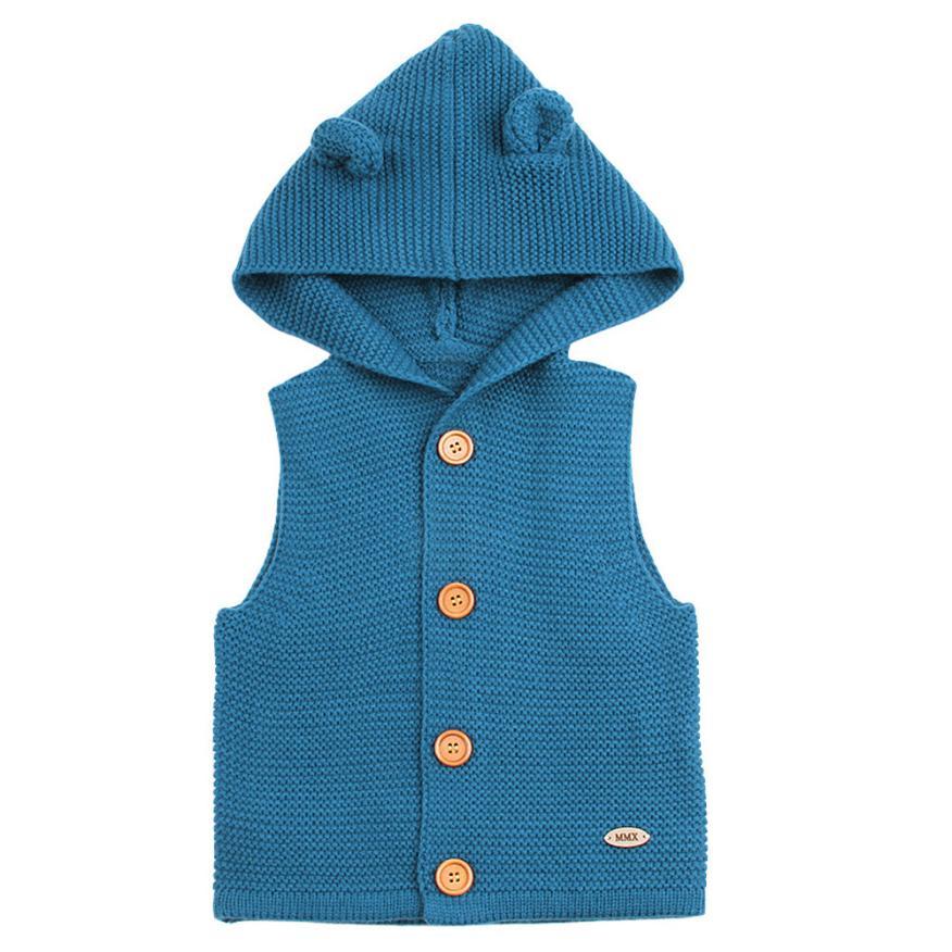 Arloneet Kleinkind Kinder Baby Mädchen Jungen Winter Warme Kleidung Weste Bluse Dicken Mantel Outwear L0726