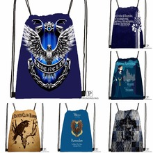 Custom Ravenclaw Drawstring Backpack Bag Cute Daypack Kids Satchel Black Back 31x40cm 180531 02 11
