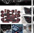 For Honda CITY low configuration 2015 20pcs/set Car anti slip sticker gate slot pad door carpets cup holder decoration