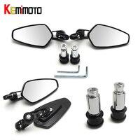 7 8 22mm Universal Motorcycle Mirror Sport Bike Moto Bar End Mirror Rearview Side Mirror High