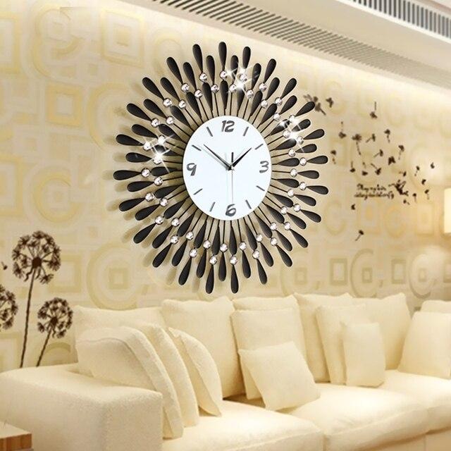 Us 14125 Dekoracji Wnętrz Zegar ścienny Nowoczesny Salon Duży Mody Nowoczesne Osobowości Wyciszenie Zegary ścienne Zegar Zegarek Kieszonkowy W