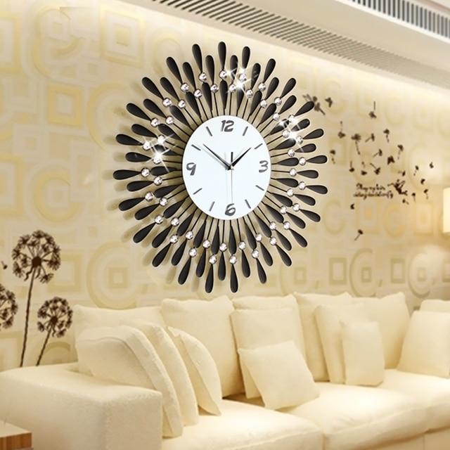 La decoraci n del hogar del reloj de pared moderna sala de - Relojes para decorar paredes ...