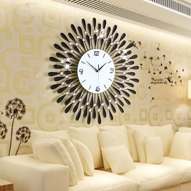home decoration wall clock modern living room large wall clocks ...