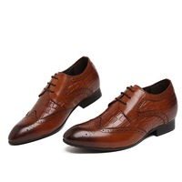 Height Increasing Oxfords Shoes Mens Business Shoes Genuine Leather Wedding Shoes Mens Dress Shoes Grow Taller