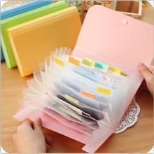 1 шт. Пластиковая Сумка для документов ярких цветов папка для файлов расширяющаяся папка для бумажников маленький размер 17,8*11,5*2,5 см