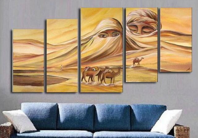 Framed 5 Panels Huge Wall ArtArt Oil PaintingCanvas ArtAfrican Paintings & Framed 5 Panels Huge Wall ArtArt Oil PaintingCanvas ArtAfrican ...