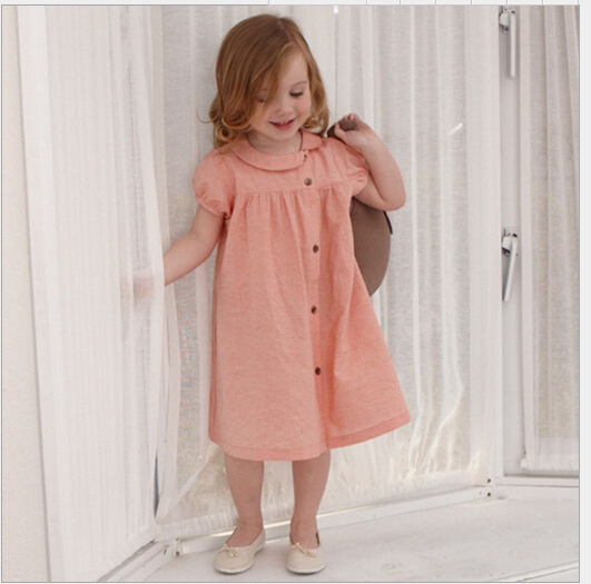 Aliexpress.com : Buy 2016 Baby Girls Cotton Linen Dresses Kids ...
