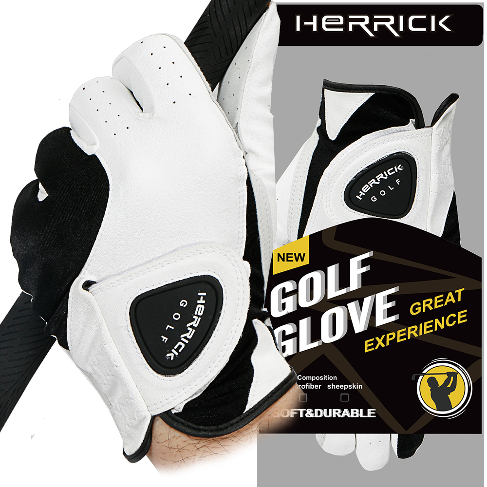 NEW golf glove men genuine leather Breathable Skidproof outdoor sports Golf gloves free shipping