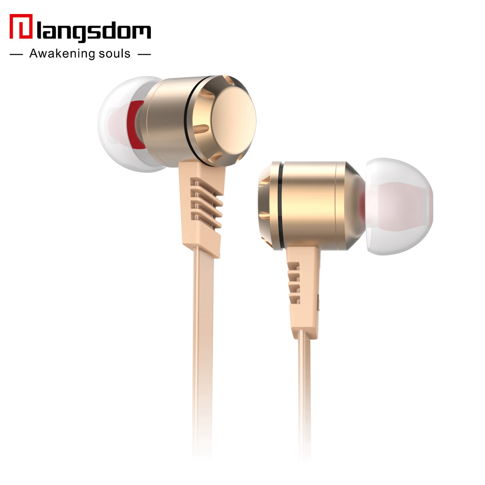 REZ M410 Super Bass Earphone Flat Cable Headsets Metal In ear Earbuds with Microphone for fone de ouvidofor mobile phone