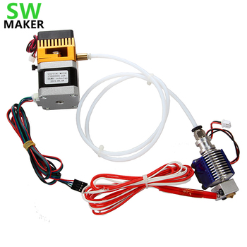 SWMAKER 3D printer accessories MK8 V6  remote head extruder suite kit  12V/24V , 0.4mm nozzle , with cooling fan ,1 meter tube