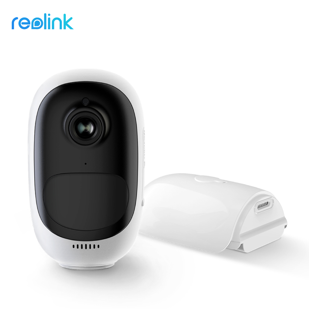 Reolink WiFi IP Camera Rechargeable Battery Powered Full HD 1080p 130 degree Wide View Angle Weatherproof