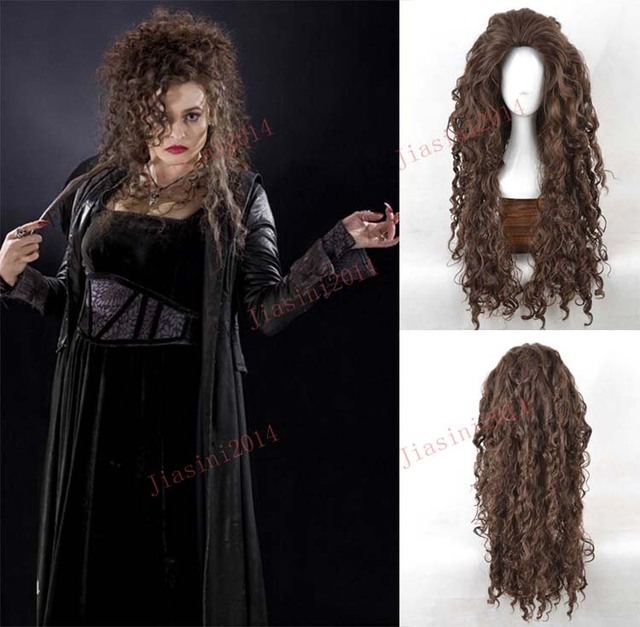 Connu 2016 Free Shipping new arrival Harry Potter Bellatrix Cosplay Wigs  KY63