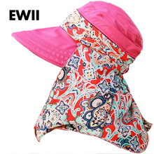 Sombrero Del Sol Fashion Face Protection Sun HatsSummer cap For Women Foldable AntiUV Wide Big Brim Adjustable Women Hat Summer