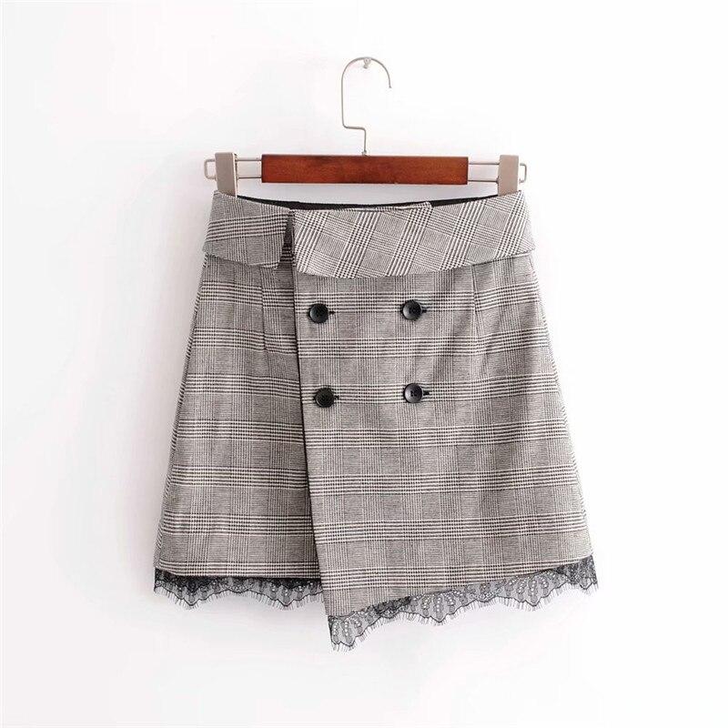 2018 summer new style chidren Grace mini skirt A-line women, asymmetrical high waist elegant casual A word skirt womens