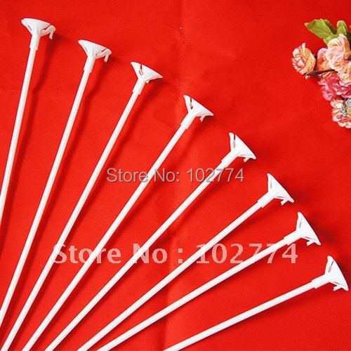 balloons rod  PVC rods  rods for support balloons 40cm balloon accessories party wedding supplies white