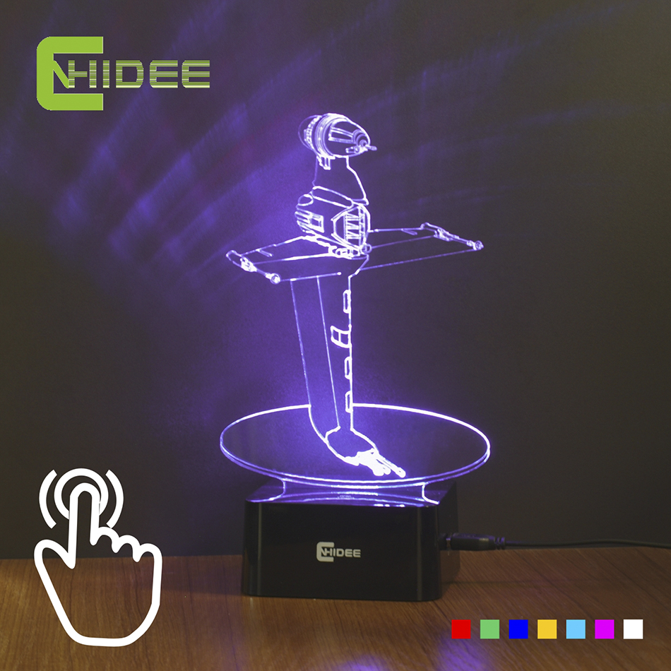 star wars desk accessories with lamp   Colorful Led Night Light B wing Star wars Lamp as Home ...