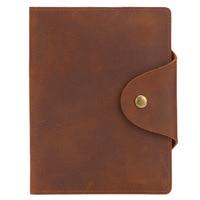 Vintage Cowhide Men And Women Money Clip Slim Purse Unisex Concise Leather Short Wallet PR069114