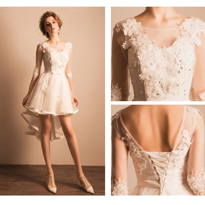 Schön Halb Formales Kleid Für Die Hochzeit Ideen - Brautkleider ...