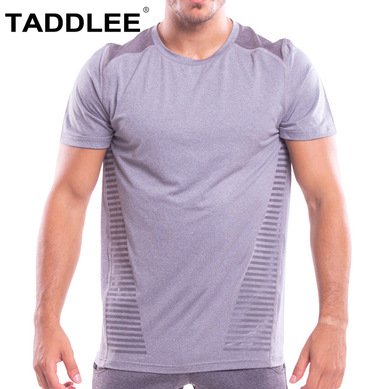Taddlee marque Top t-shirts hommes doux Stretch t-shirts O cou grande taille XXL Sports course musculation manches courtes Muscle Gasp